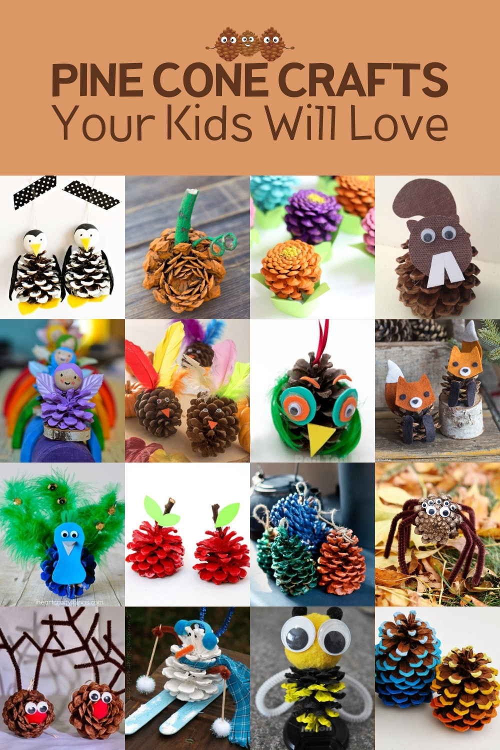 25 Pine Cone Crafts Your Kids Will Love