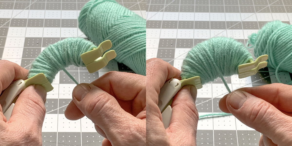 Hand wrapping yarn