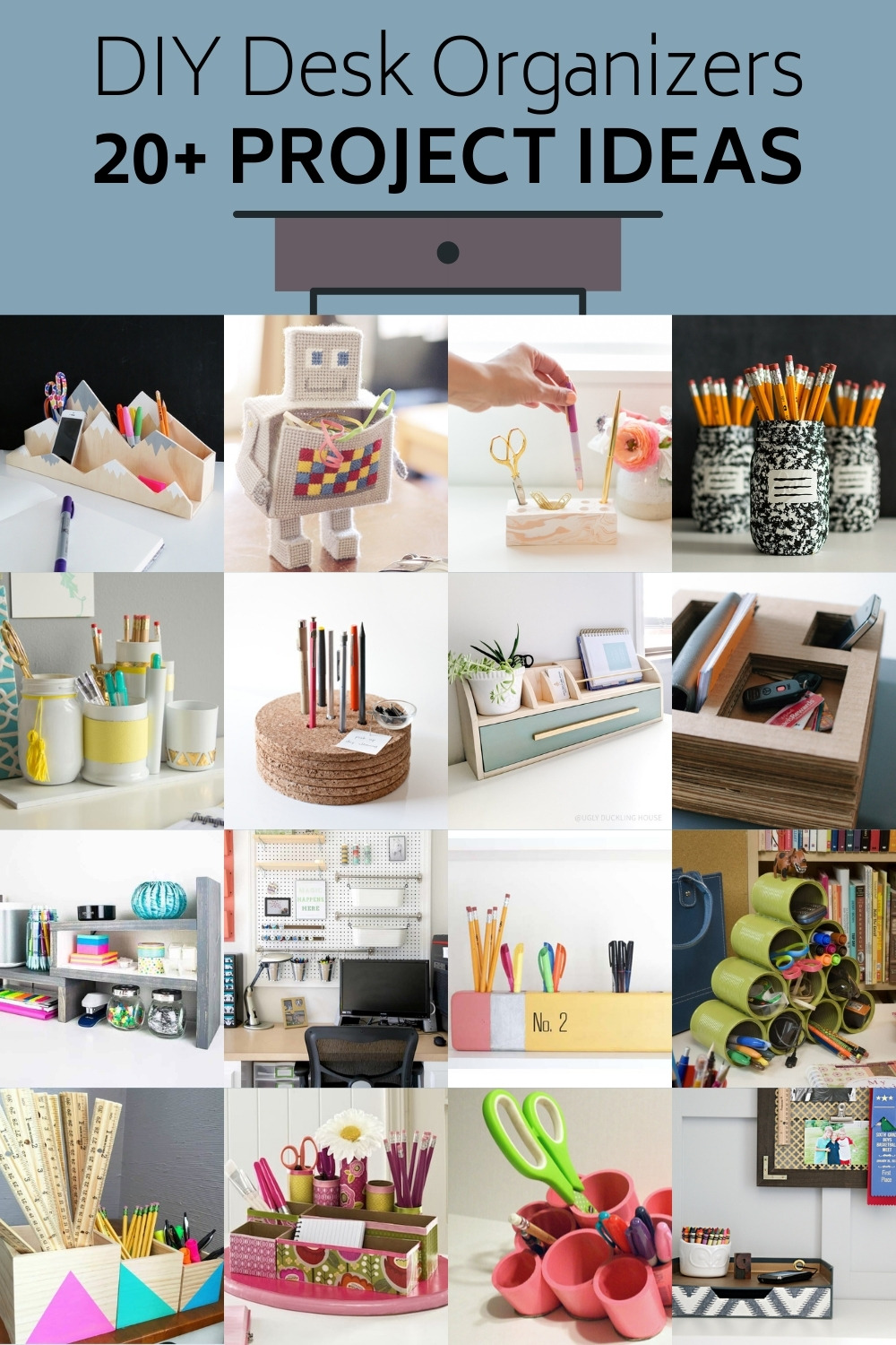 Over 20 DIY Desk Organizer Projects