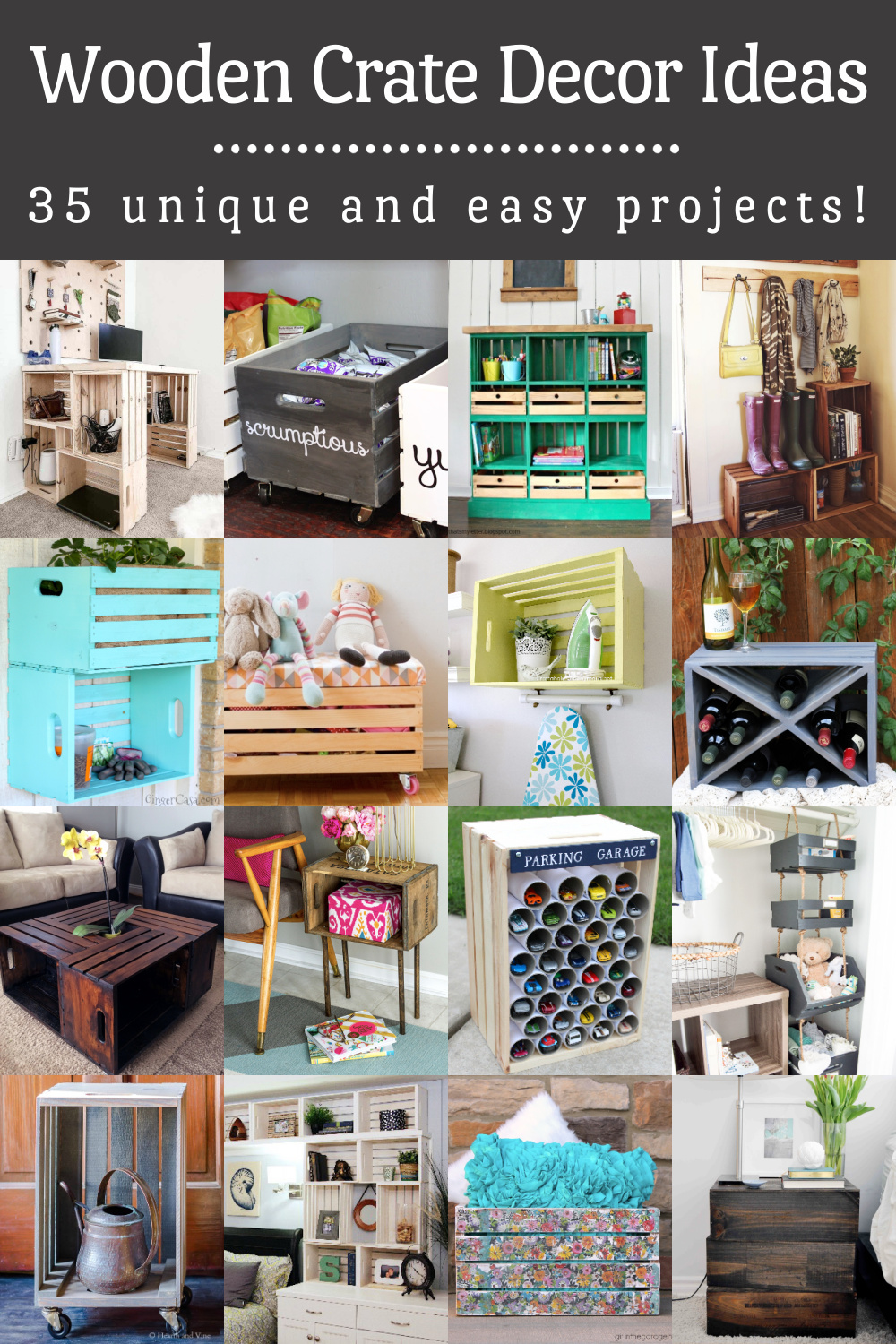 Wooden crate decorating ideas