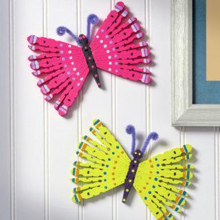 Clothespin butterflies