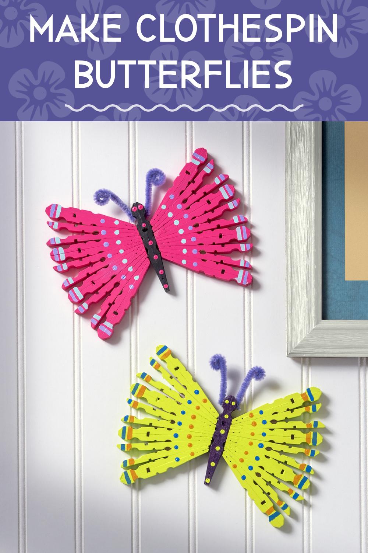 DIY Clothespin Butterflies