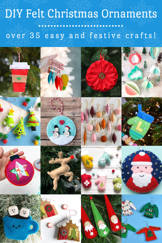 DIY Felt Christmas Ornaments