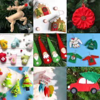 Felt Christmas ornaments feature image