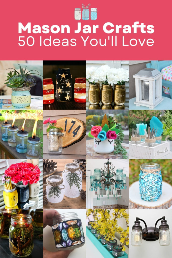 Mason jar crafts - 50 ideas you will love