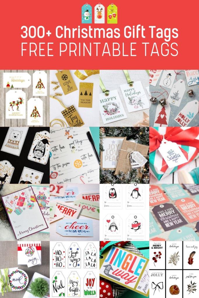 Over 300 Printable Christmas Gift Tags