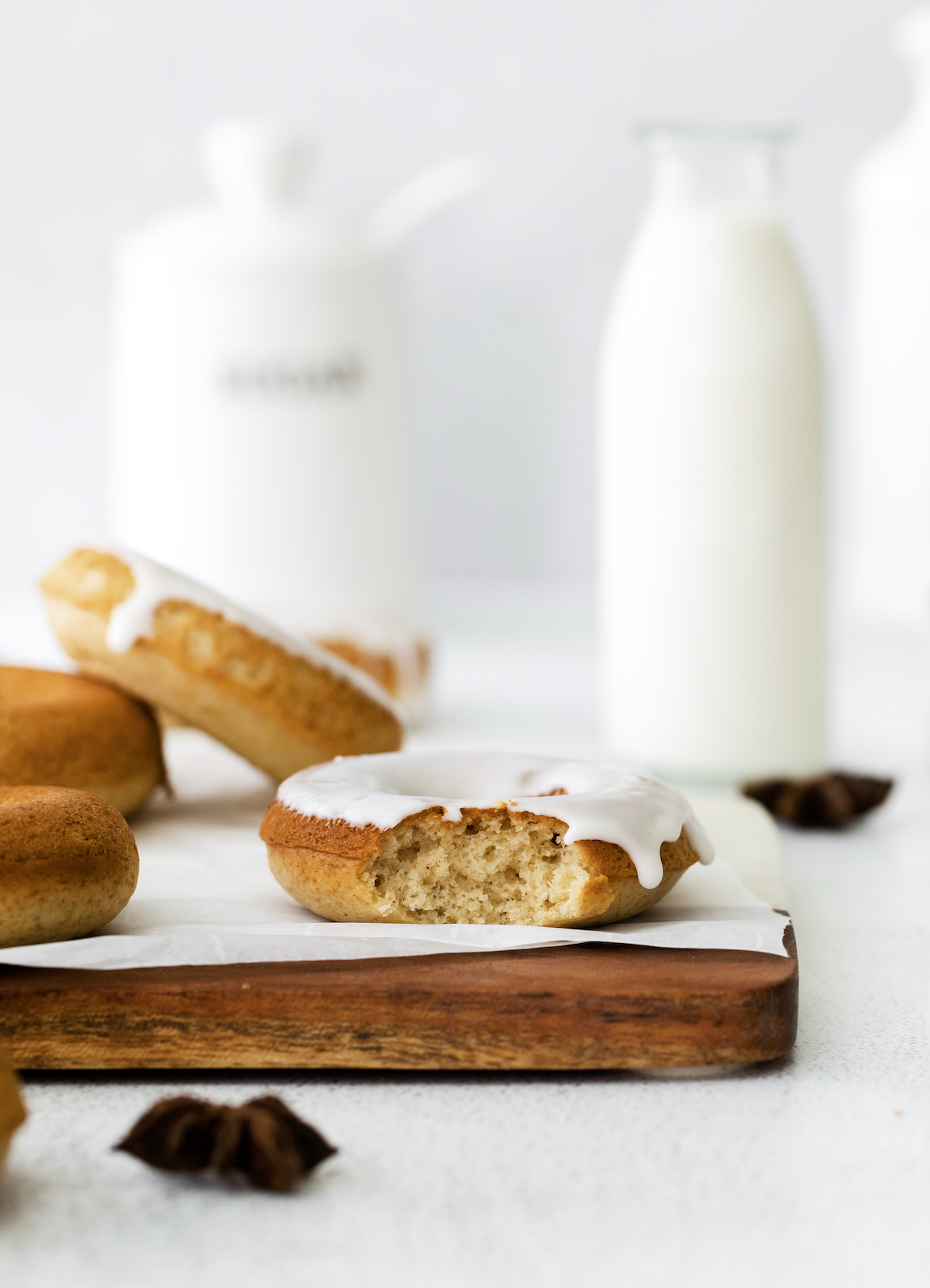 Baked donuts for fall with maple chai