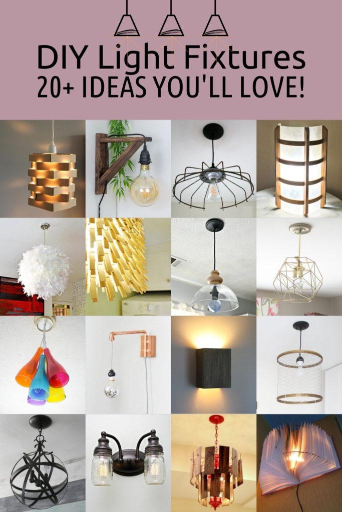 DIY Light Fixtures - 20+ Ideas You'll Love