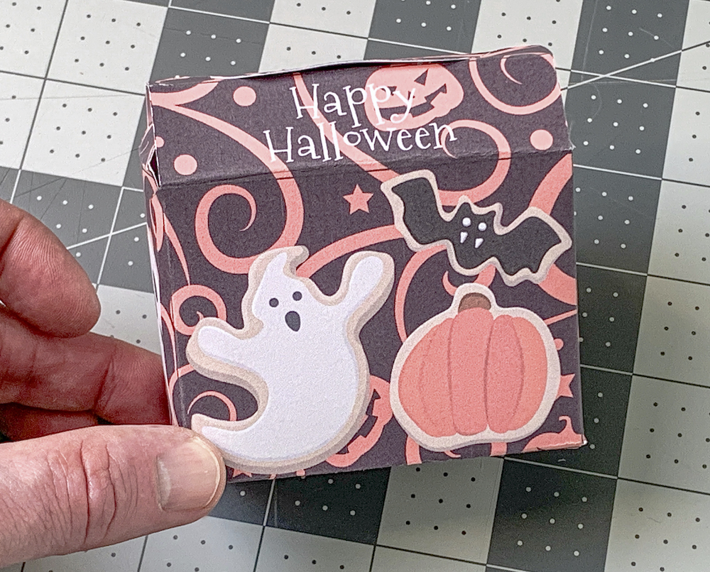 Adding Glue Dots to the Halloween printable