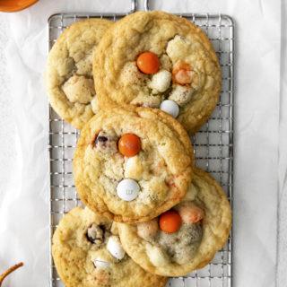 Halloween M&M cookies recipe