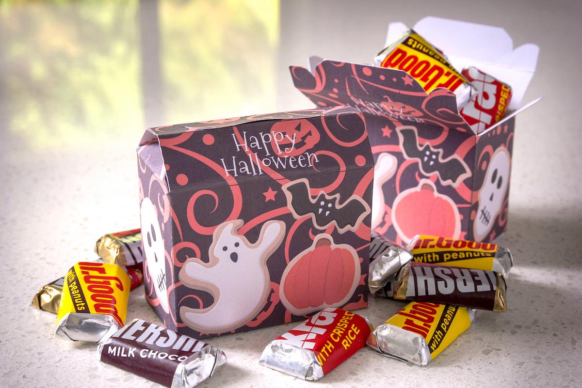 Halloween Treat Box with mini candy bars