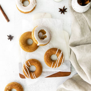 Maple chai baked donuts for fall