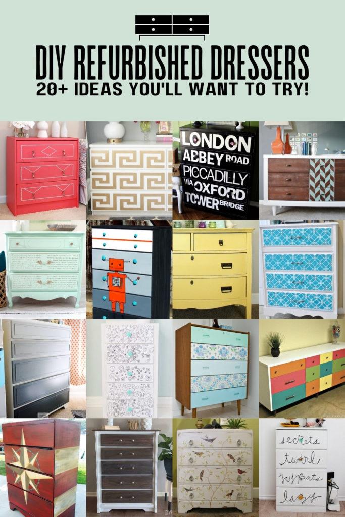 Refurbished Dresser Ideas: Over 20 DIY Projects