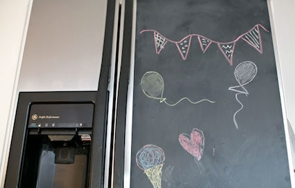 Chalkboard Fridge Door
