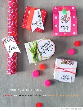 Celebrate Christmas and beyond with these FREE printable holiday gift tags! So many unique designs - there's a little something for everyone.